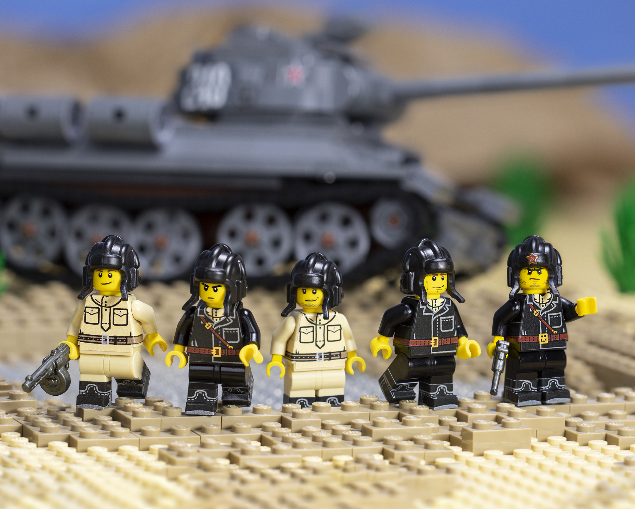 WWII Russian Tank Crewman - Sticker Pack