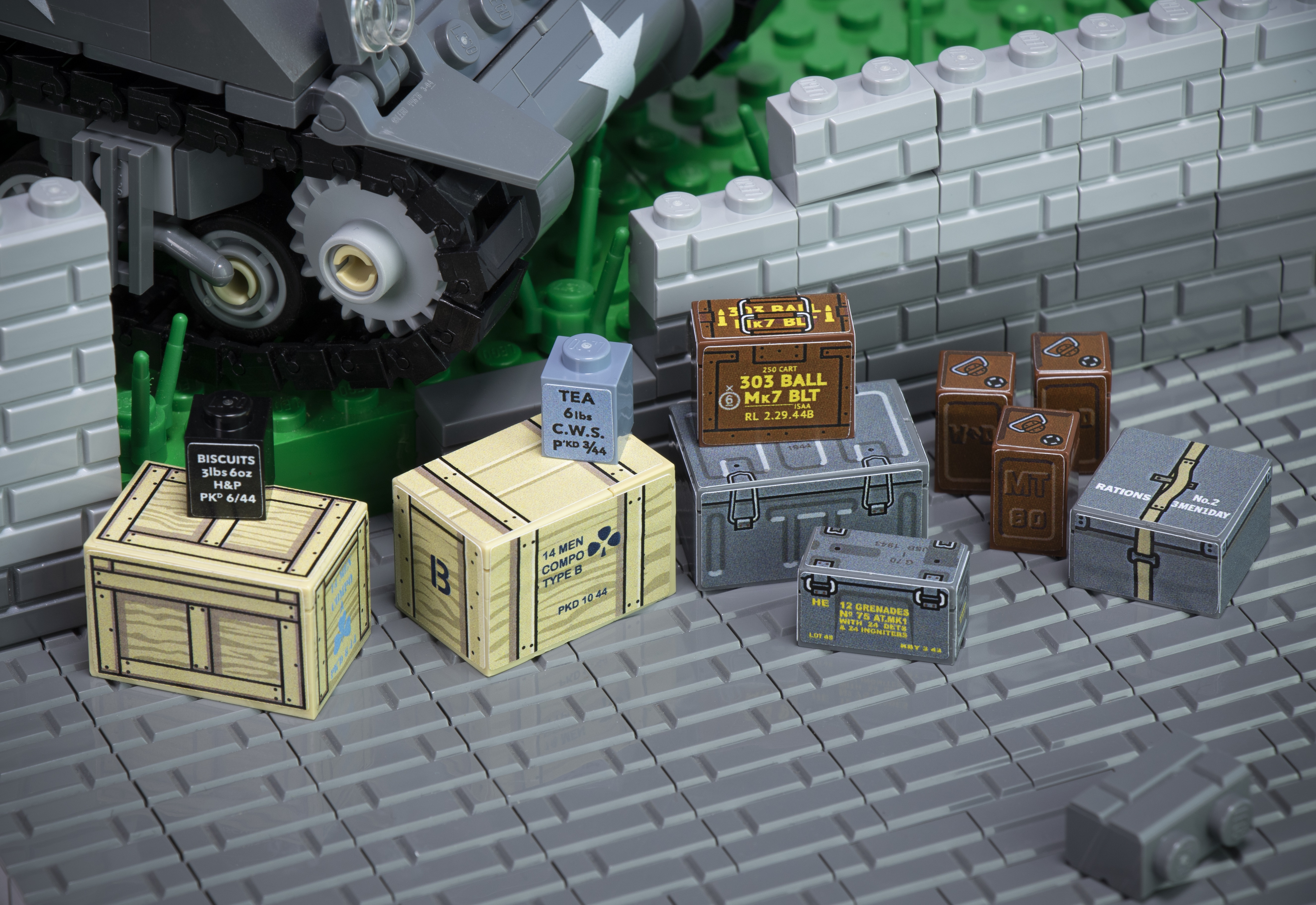 WWII British Ammo Crates and Ration Boxes - Sticker Pack
