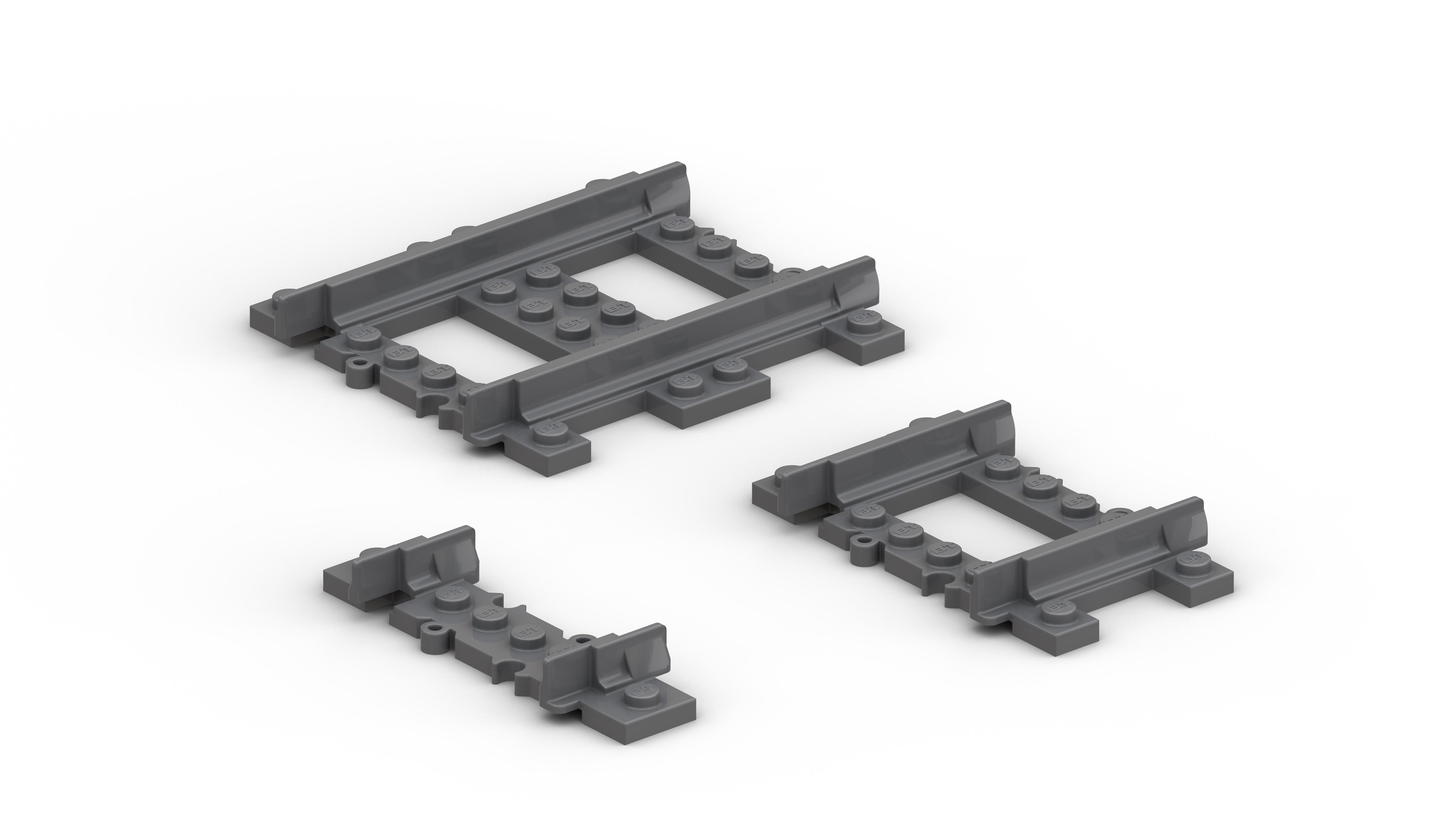 BrickTracks - Short Straight Track Pack