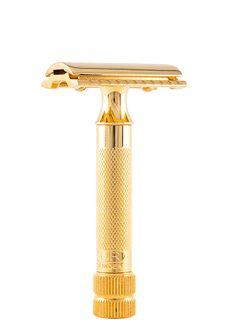 Merkur - DE Safety Razor 34G, Gold, Straight Guard, German (9034003)