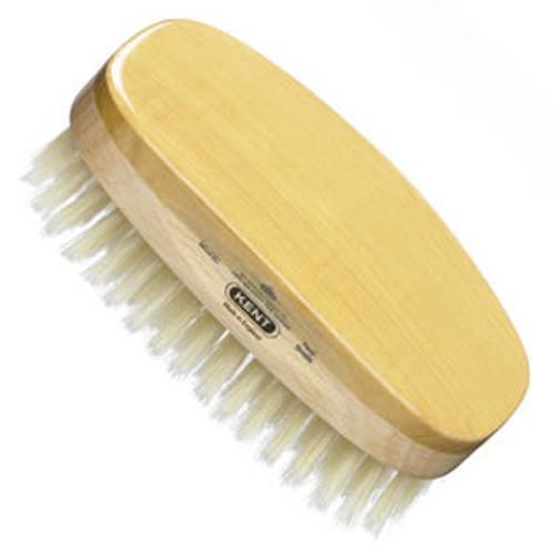 Kent - Hair Brush, Rectangular, Satinwood, Soft White Bristle