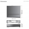 Samsung/Hanwha XRN-2011 Dimensions
