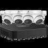 Dahua N444E42S IP Kit: 4-CH NVR + 4 x 4MP, Starlight. Mini Eyeball Cameras