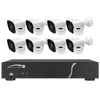 Speco Technologies ZIPT88B2 8CH HD-TVI DVR, 1080p, 120fps, 2TB w/ 8 Outdoor IR Bullet Cameras 2.8mm lens, White (ZIPT88B2)