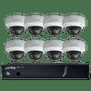 Speco Technologies ZIPT88D2 8CH HD-TVI DVR, 1080p, 120fps, 2TB w/ 8 Outdoor IR Dome Cameras 2.8mm lens, White (ZIPT88D2)