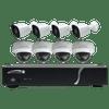 Speco Technologies ZIPT8BD2 8CH HD-TVI DVR, 1080p, 120fps, 2TB w/ 4 Outdoor IR Bullet & 4 Outdoor IR Dome, 2.8mm lens, White (ZIPT8BD2)