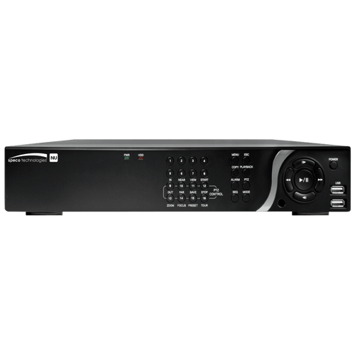 Speco Technologies SPE-N16NU8TB 16 Channel Network Server with POE, H.265, 4K- 8TB, TAA (SPE-N16NU8TB)