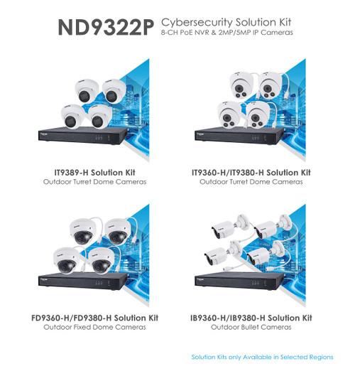 Vivotek ND9323P-2TB-4IB80 - Kit 1 x ND9323P with 1 x 2TB HDD and 4 x IB9380-H