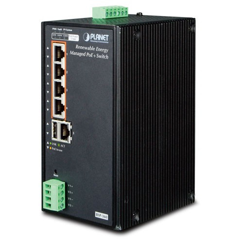 Planet BSP-360 Industrial Solar Power PoE Switch