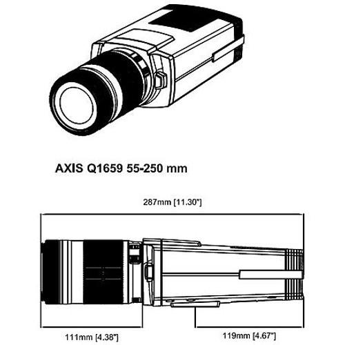 AXIS Q1659 (01118-001) 20MP 55-250mm Lens Box Network Camera