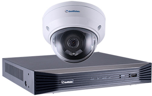 GeoVision GV-ADR2701-SNVR0812 2MP Mini Dome NVR Bundle