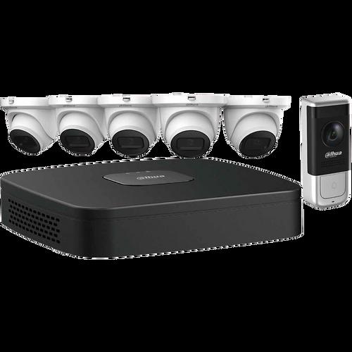 Dahua N484E62A IP Kit: 8-CH NVR + 6 x 4MP, Starlight. Mini Eyeball Cameras