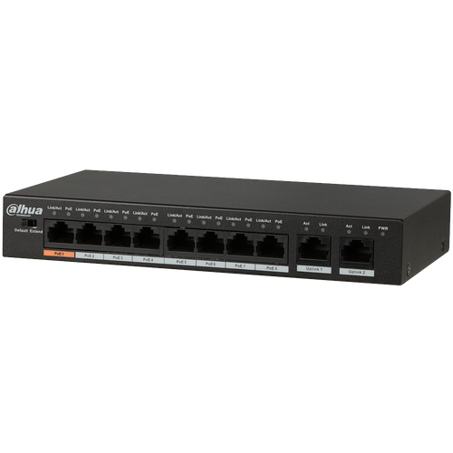 Dahua DH-PFS3010-8ET-96 8-port PoE Ethernet switch 96W