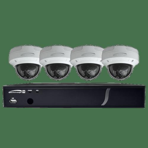Speco Technologies ZIPT84D2 8CH HD-TVI DVR, 1080p, 120fps, 2TB w/ 4 Outdoor IR Dome Cameras 2.8mm lens, White (ZIPT84D2)