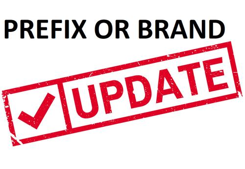 Update Stud Prefix or Brand