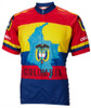 World Jerseys Colombia Cycling Jersey Mens Short Sleeve Free Shipping to Any U.S Address
