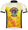 Primal Wear Grateful Dead Bertha Skeleton Tie Dye Men's Short Sleeve Cycling Jersey with DeFeet Socks