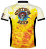 Primal Wear Grateful Dead Bertha Skeleton Tie Dye Men's Short Sleeve Cycling Jersey with DeFeet Socks