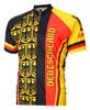 World Jerseys Deutschland Germany Cycling jersey Men's Short Sleeve with DeFeet Socks