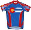 Primal Wear Colorado Flag Cycling Jersey Men's Short Sleeve with DeFeet Socks