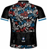Primal Wear Merica USA Patriotic Bikes Cycling Jersey Men's Sport Cut Short Sleeve with DeFeet Socks
