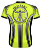 Primal Wear Old Fart Vitruvian Man Cycling Jersey HiViz Men's Short Sleeve with DeFeet Socks