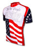"""U.S. Constitution """"We The People""""  Cycling Jersey by World Jerseys Short Sleeve Mens"""