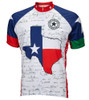 Texas Flag Cycling Jersey by World Jerseys Men's Short Sleeve with DeFeet Socks