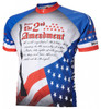 2nd Second Amendment USA Cycling Jersey by World Jerseys Men's Short Sleeve with DeFeet Socks