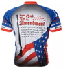 2nd Second Amendment USA Cycling Jersey by World Jerseys Men's Short Sleeve with DeFeet Socks