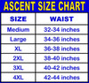 Ascent Baggy Cycling Shorts Black Men's - Nylon Outershorts, Padded Lycra Innershorts Choice of Size