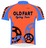 Primal Wear Old Fart Cycling Team Sprockets Cycling Jersey Men's Short Sleeve Super Bright Orange with DeFeet Socks