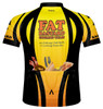 Primal Wear Fat Bastard Cycling Team Jersey Men's Short Sleeve Yellow Orange Black with DeFeet Socks