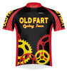 Primal Wear Old Fart Cycling Team Sprockets Cycling Jersey Men's Short Sleeve Black with DeFeet Socks