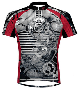 Primal Wear Crankin' Stein Short Sleeve Steampunk Cycling Jersey with DeFeet Socks Free Shipping