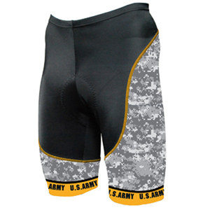 Primal Wear Army Camo Cycling Shorts Men's with DeFeet Socks