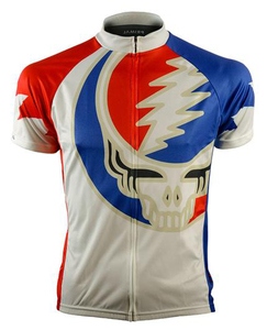 Primal Wear Grateful Dead Origins Skull Men's Short Sleeve Cycling Jersey with DeFeet Socks