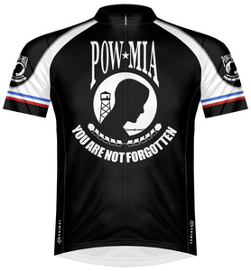 Primal Wear POW/MIA Cycling Jersey Men's Short Sleeve Prisoner of War Missing in Action