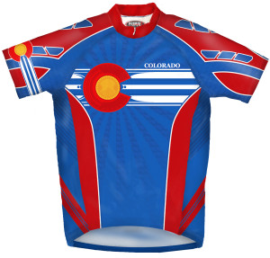 Primal Wear Colorado Flag Cycling Jersey Men's Short Sleeve with DeFeet Socks