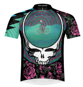 Primal Wear Grateful Dead So Many Roads Men's Short Sleeve Cycling Jersey with DeFeet Socks
