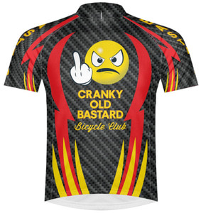 Primal Wear Cranky Old Bastard Men's Cycling Jersey Sport Cut with DeFeet Socks