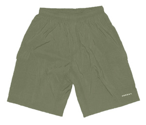 Ascent Baggy Cycling Shorts Sage Green Men's - Nylon Outershorts, Padded Lycra Innershorts Made in USA