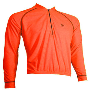 SALE $19.95 Canari Paceline PLUS SIZE Jersey Mens Long Sleeve Bright Neon Orange RUNS BIG Free Shipping to U.S. addresses
