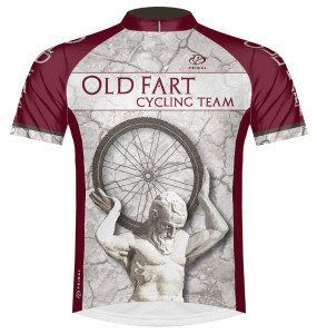 Primal Wear Old Fart Atlas Cycling Jersey Men's Short Sleeve with DeFeet Socks