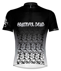 Primal Wear Grateful Dead Dancing Skeletons Cycling Jersey Men's Short Sleeve with DeFeet Socks