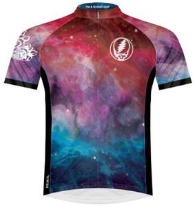 Primal Wear Grateful Dead Dark Star Men's Cycling Jersey Sport Cut with DeFeet Socks