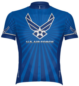 Primal Wear U.S. Air Force Cycling Jersey USAF Men's Short Sleeve with DeFeet Socks