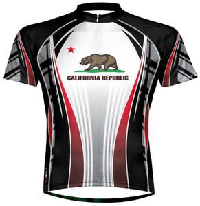 Primal Wear California Republic Flag Cycling Jersey Men's Short Sleeve with DeFeet Socks
