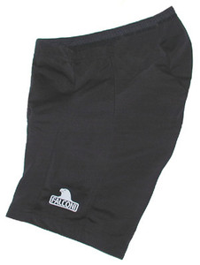 Falconi Women's Verona Lycra 8-Panel Black Cycling Shorts Sewn-In Seat Pad Made in USA