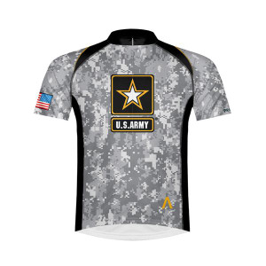 Primal Wear U.S. Army Camo Shortsleeve Cycling Jersey with DeFeet Socks